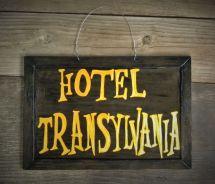 Hotel Transylvania Inspired Halloween Fall Door Hanger