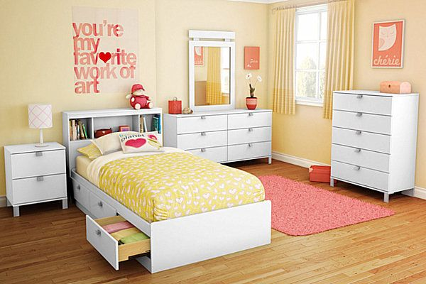 chambre fille adolescente jaune     Pinterest  Room girls Bedrooms and Room