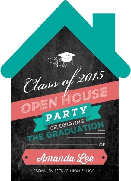CHEAP! Fun Open House Graduation Party Invitation By InviteShop