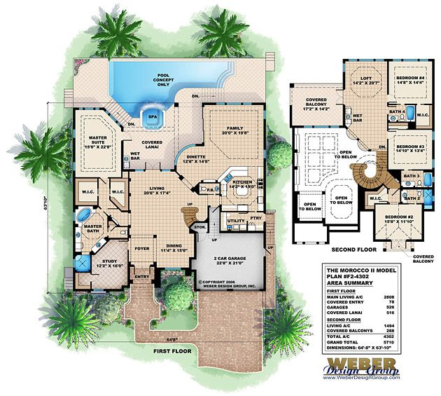 Morocco Ii Floor Plan By Weber Design Group