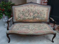 Antique French Carved Oak Louis XV Settee Sofa Bench ...