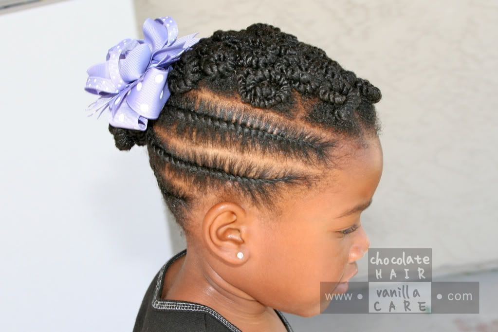 I'm Trying This On Me Too! Side Flat Rope Twists With Pinned Buns