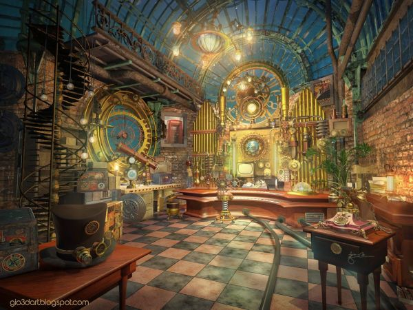 Concept Art Room Steampunk - Google