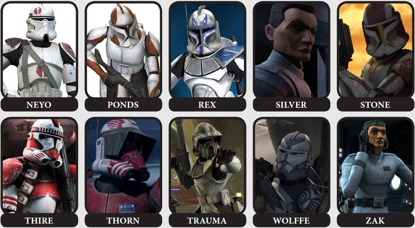 Clone Commanders Star And Captains Wars