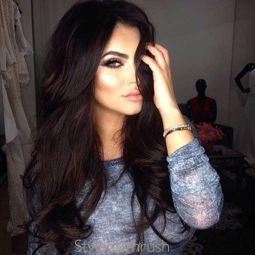 20 Dark Brown Hair Colour Long Hairstyles 2015 & Long Haircuts