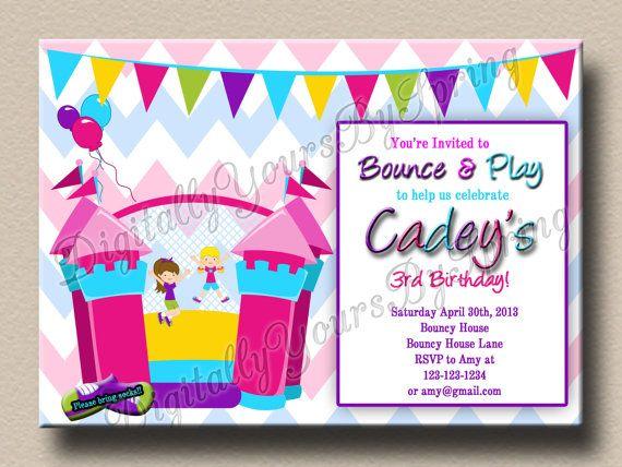 Printable Bouncy House Birthday Party By DigitallyUrsbySpring