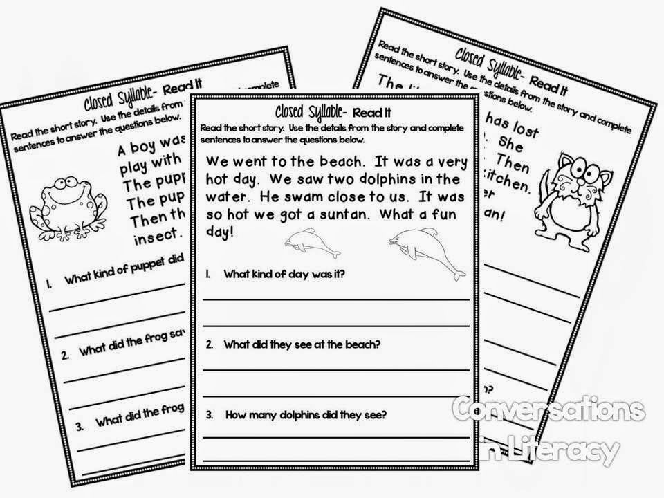 Break It Up!- Practice reading closed syllable words in