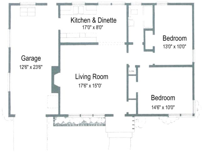4 2 Bedroom Bath Car Garage House Plans