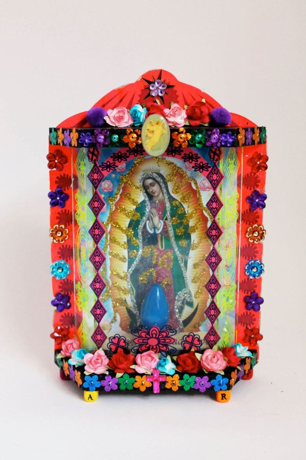 Mexican Folk Art Painting of Our Lady of Guadalupe