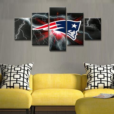 New England Patriots Nfl Football Panel Canvas Wall Art Home Decor ...