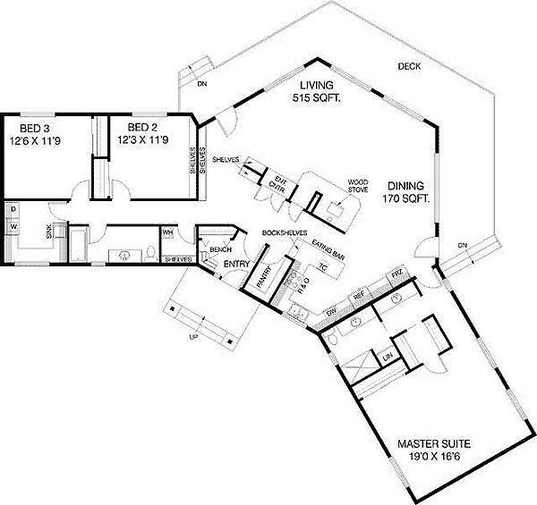 u shaped home floor plans