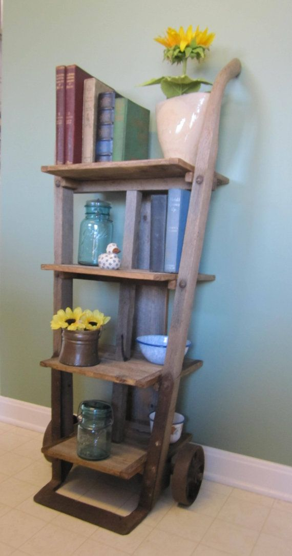 Antique Furniture Dolly Repurposed Into Shelf By