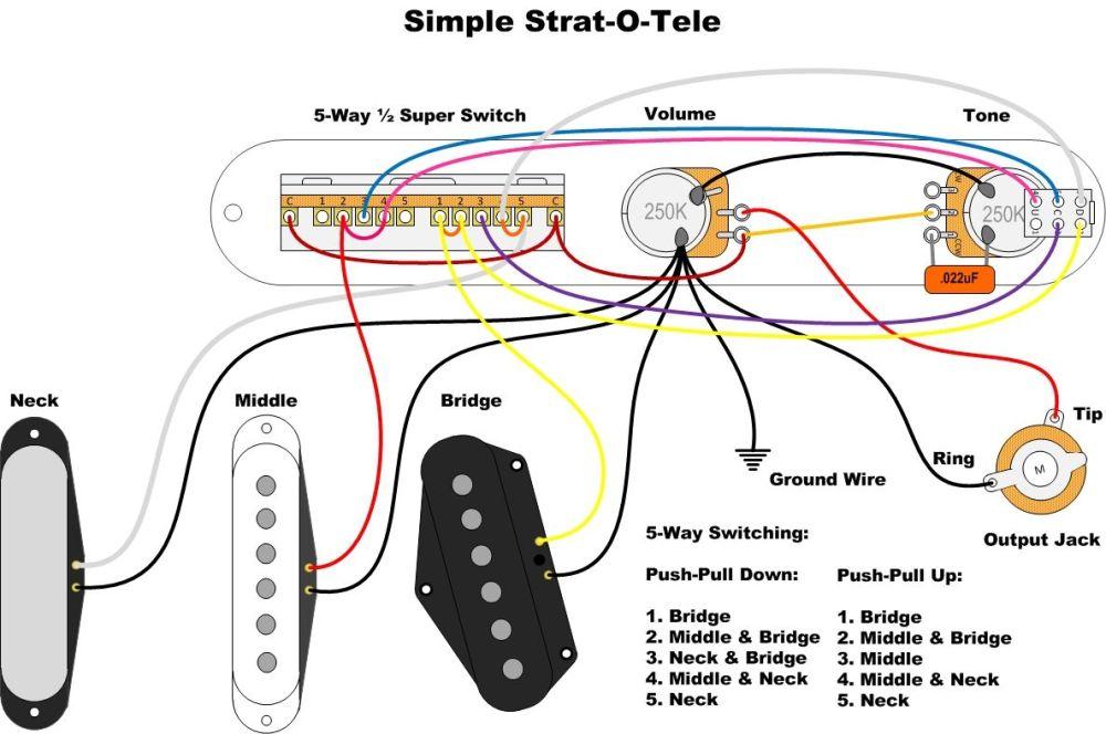 medium resolution of simple strat o tele for tele wiring diagram sheet magic jack wiring diagram telecaster pickup wiring