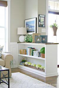 Finished Half Wall Bookcase! | Half walls, Walls and ...