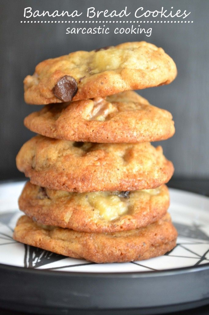 Banana Bread Cookies. This would be a HUGE hit at the office