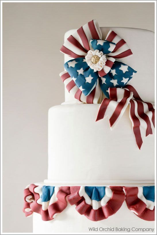 Online Cake Decorating Class The 2nd Cake of July  June 27, 2012 by Carrie Sellm