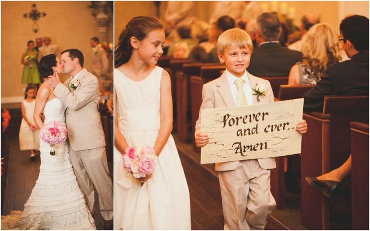 flower girl signs | love it except I would do forever and always