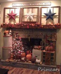old windows..barn stars..perfect! | Primitives | Pinterest