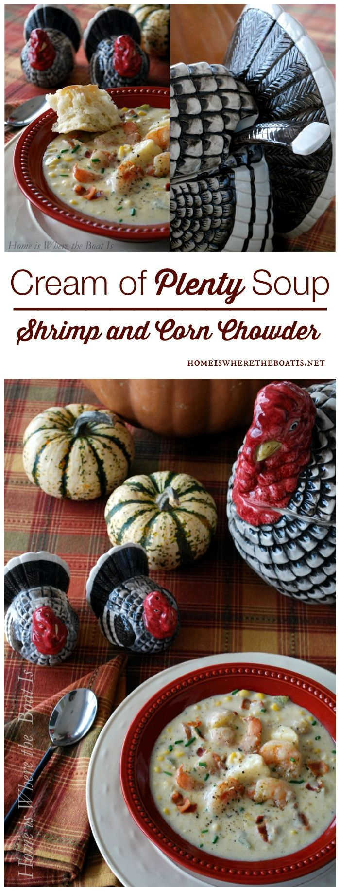 Cream of Plenty Soup, aka, Shrimp and Corn Chowder