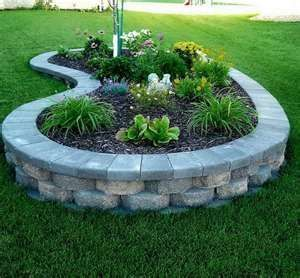 an idea for a retaining wall around front yard tree for front yard landscape des