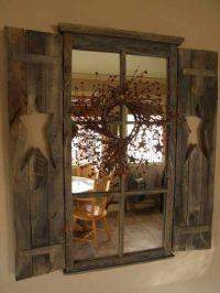 primitive window with mirror | Rustic ,Primitive & Country ...