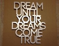 Dream Metal Wall Art Quote - Dream On - Aerosmith - Dream ...