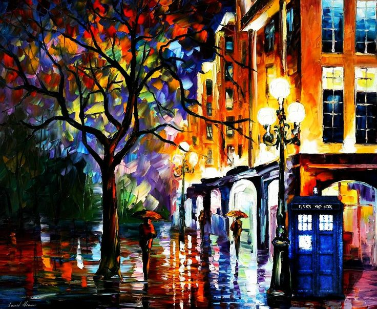 TARDIS painting. I would pay for this