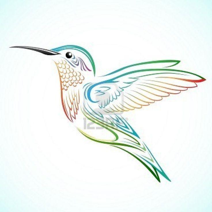 Watercolor hummingbird tattoo idea