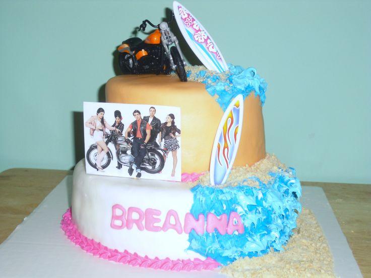Teen Beach Movie Cake  – Teen beach movie cake covered in marshmallow fondant ,