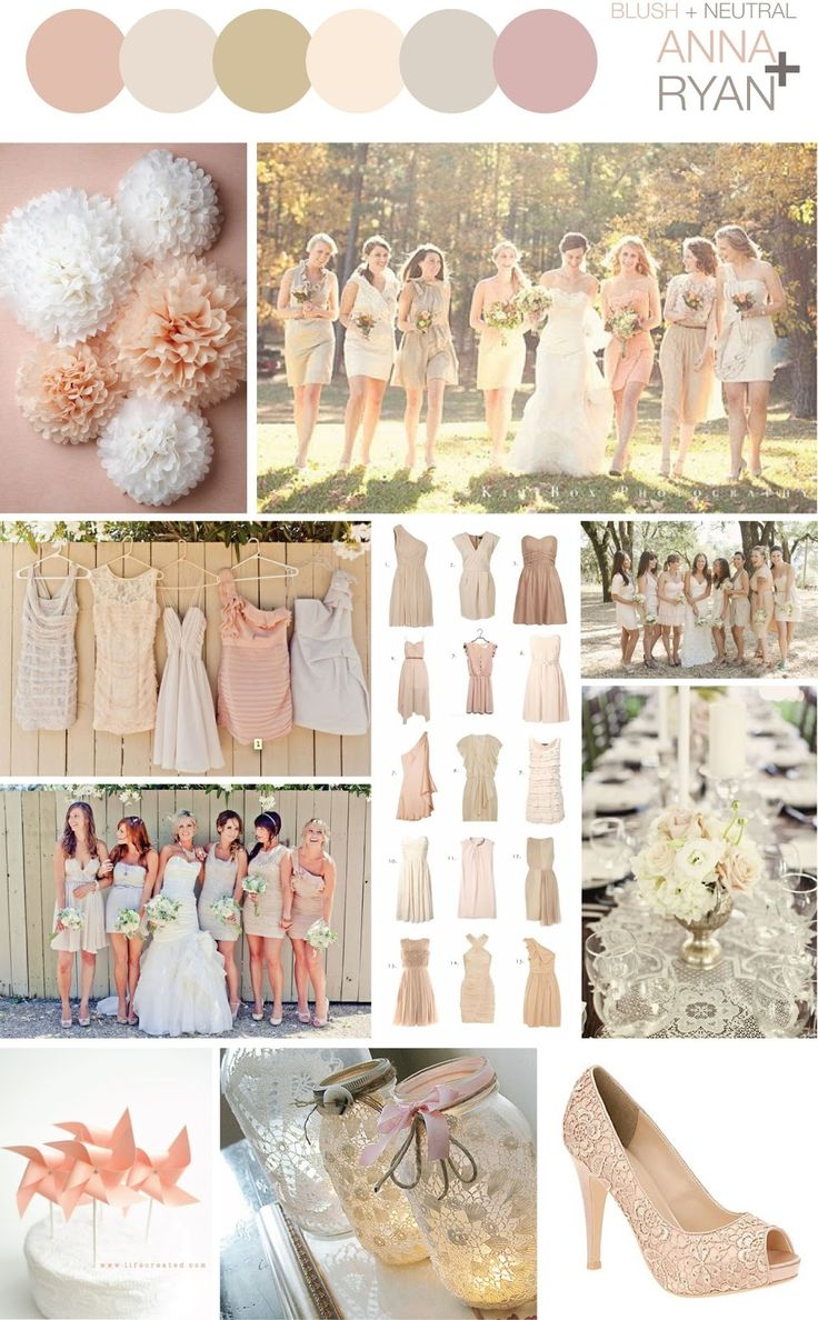 Blush + Neutral Color Scheme – Wedding