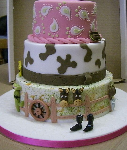 COWGIRL BDAY CAKE