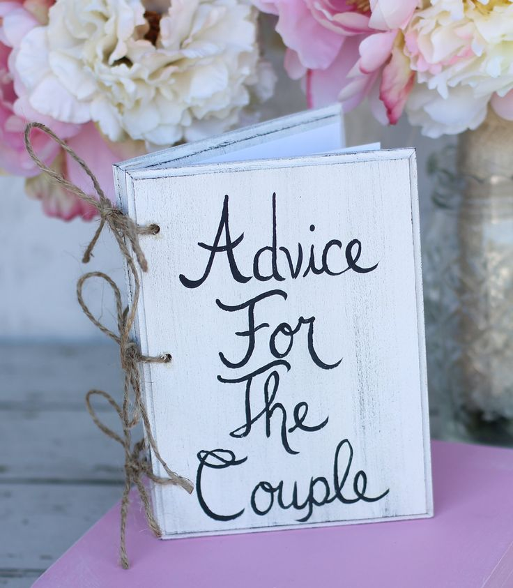 Bridal Shower Guest Book Shabby Chic Wedding Decor Advice For The Couple. $34.99