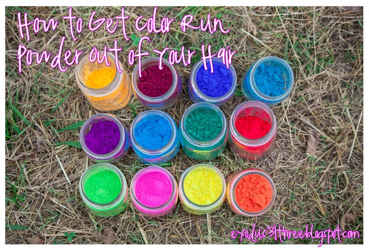 How to Get Color Run Powder Out of Your Hair | Holi Powder | exodus31three