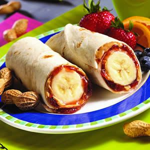PB Banana Burritos- yumm looks good snack for kids after school even for adults
