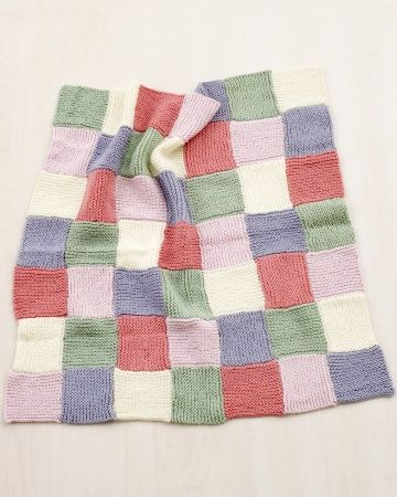 Loom Knitting Pattern: Patchwork Throw