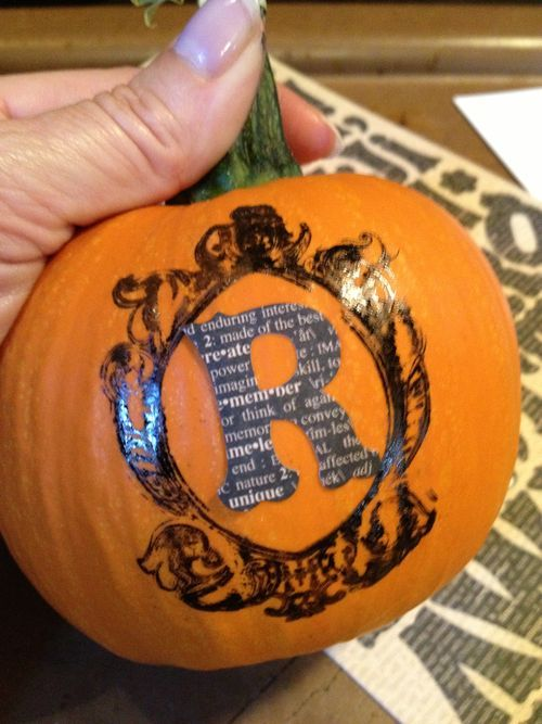 Personalize your pumpkins! Great for a party or just around the house #graphic45