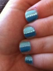 pretty blue nail art. nails