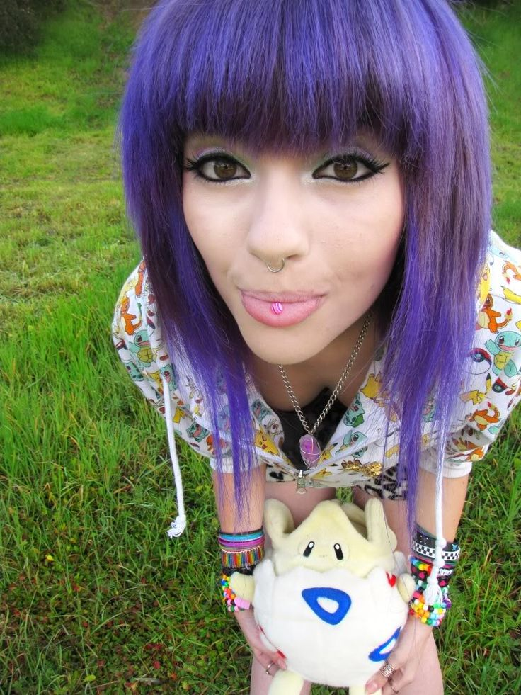 Leda Muir purple bangs #purple #dyed #hair #pretty