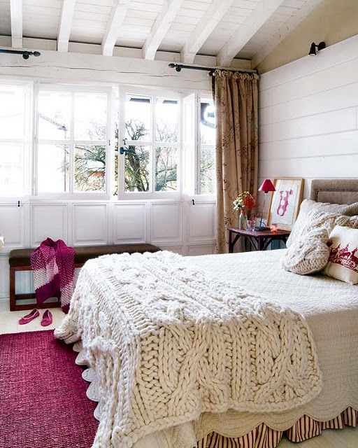 I love the blankets…so wonderful for wrapping up in in a comfy chair by the fi