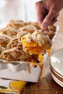 #Thanksgiving :: Peach and Cinnamon Cobbler. Ummmmm yum!
