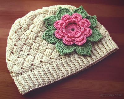 Crochet basket weave hat LCH with diagram and picture instructions