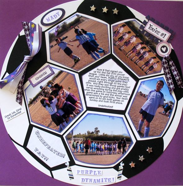 LOVE THIS IDEA!!! Awesome soccer scrapbooking layout for my bros soccer pictures