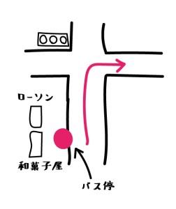 バス停の絵