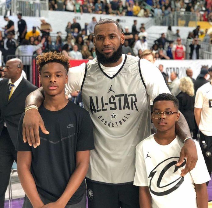 LeBron and kids