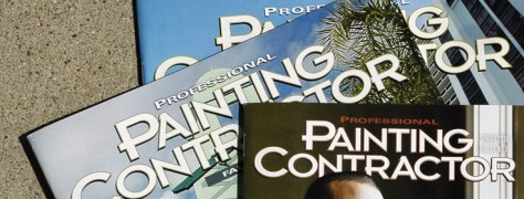 Back issues of Professional Painting Contractor magazine from 2011-2013