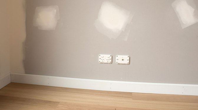 How To Paint Unfinished, Discolored Drywall
