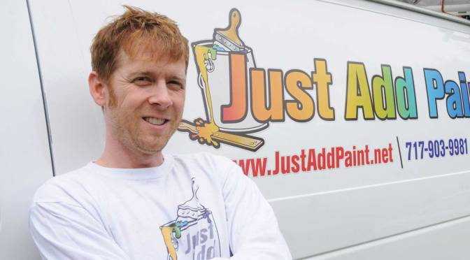 Photo of painting contractor Curtis Tankersley, owner of Just Add Paint!, Shiremanstown, PA