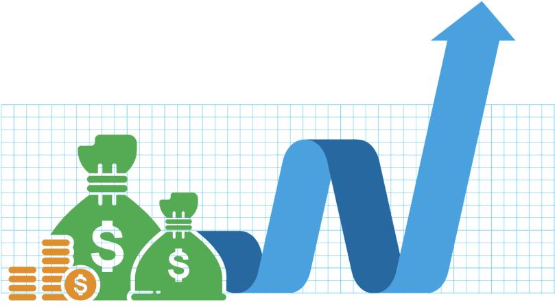 illustrative graph of increasing revenues