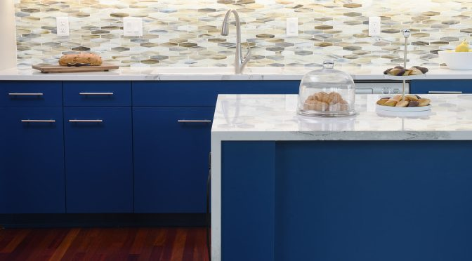Bold Blue Paint Provides The Wow Factor In Minneapolis Condo Gorgeous Condo Kitchen Remodel Painting
