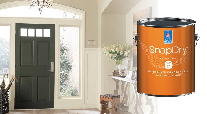 SnapDry™ Door & Trim Paint: Outstanding Results, Without the Wait